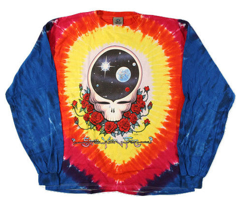 Grateful Dead - Space Your Face - Long Sleeve Tie Dye T Shirt
