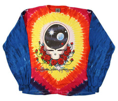 Grateful Dead Space Your Face Long Sleeve Tie Dye T Shirt