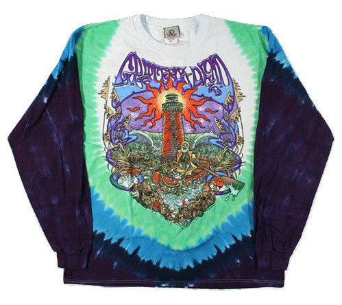 Long Sleeve Tie Dye Watchtower Shirt