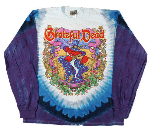 Grateful Dead Terrapin Moon Long Sleeve Tie Dye T Shirt