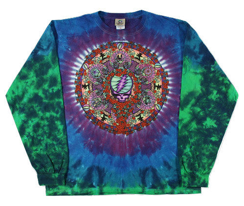 Grateful Dead Celtic Mandala Long Sleeve Tie Dye T Shirt