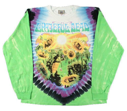 Grateful Dead - Terrapin Sunflower - Long Sleeve Tie Dye T Shirt