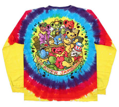 Grateful Dead - Bear Jamboree - Long Sleeve Tie Dye T Shirt