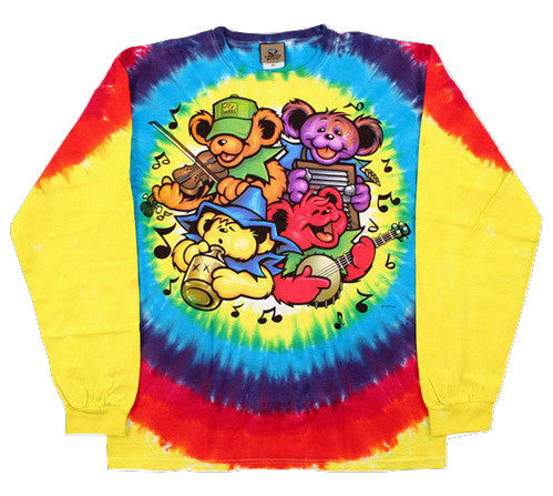 Grateful Dead Bear Jamboree Long Sleeve Tie Dye Shirt