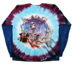 Grateful Dead - Queen Of Spades - Long Sleeve Tie Dye T Shirt