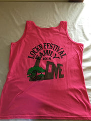 Lockn' Festival Family Pink Solid Color Womens Tank 2 Sided Print