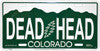 Grateful Dead Colorado Add On License Plate