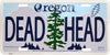 Grateful Dead Oregon Add On License Plate