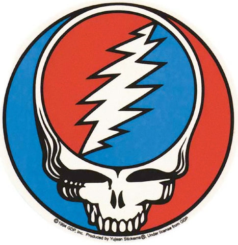 Grateful Dead Classic Steal Your Face Indoor/Outdoor Sticker