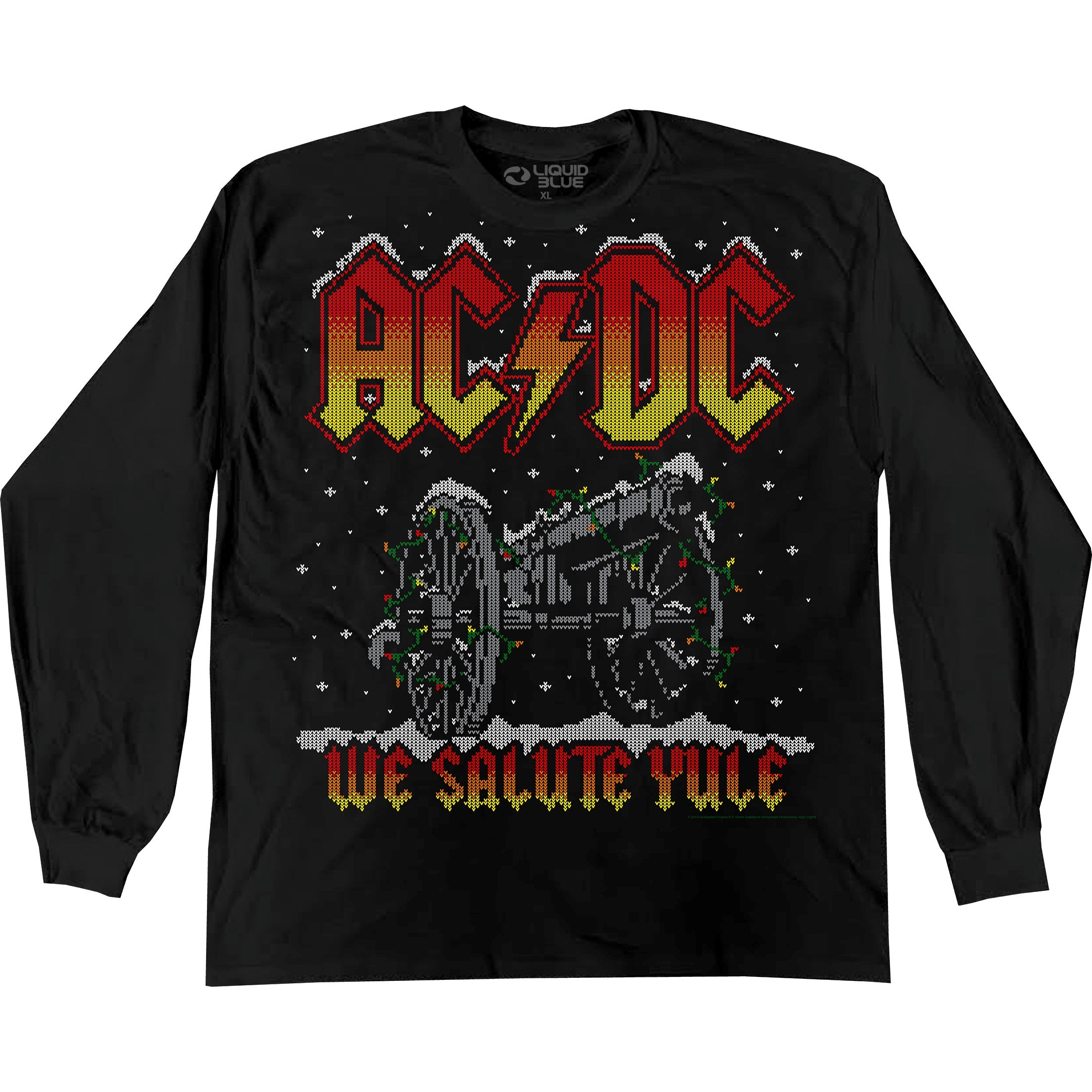 AC/DC We Salute Yule XMas Long Sleeve Shirt