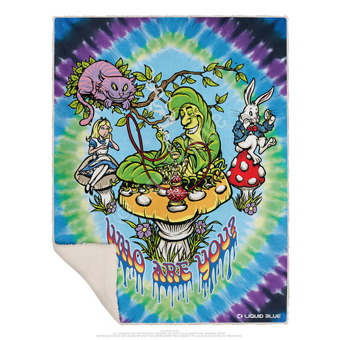 "All Mad Here Fleece Throw Blanket 50""x 60"""