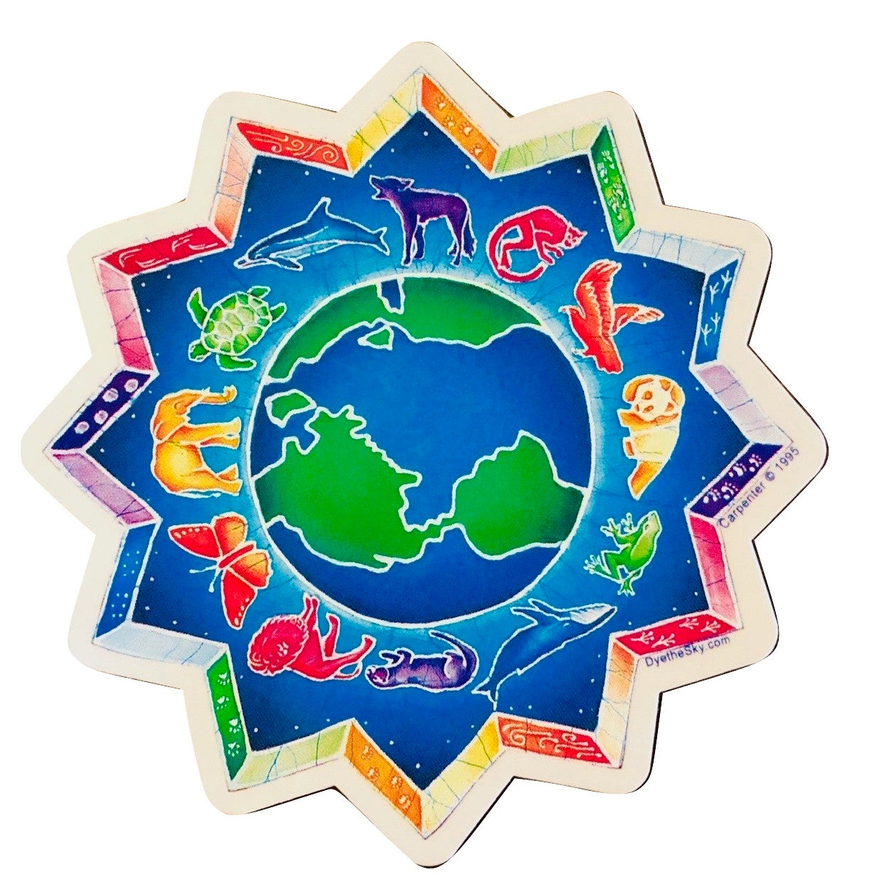 Animal Medallion Indoor/Outdoor Sticker