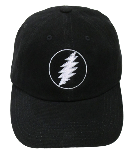 Grateful Dead Lighting Bolt Baseball Cap - Black