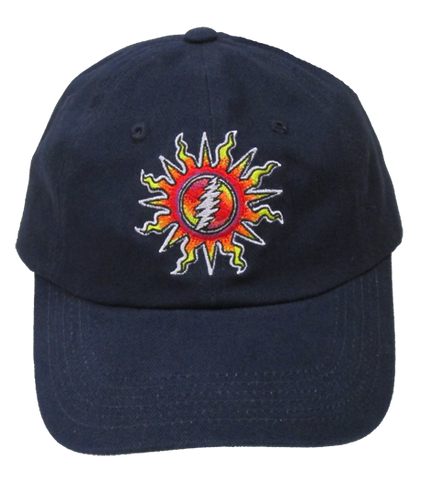 Grateful Dead Sunshine Lightnin' Embroidered Ball Cap - Navy