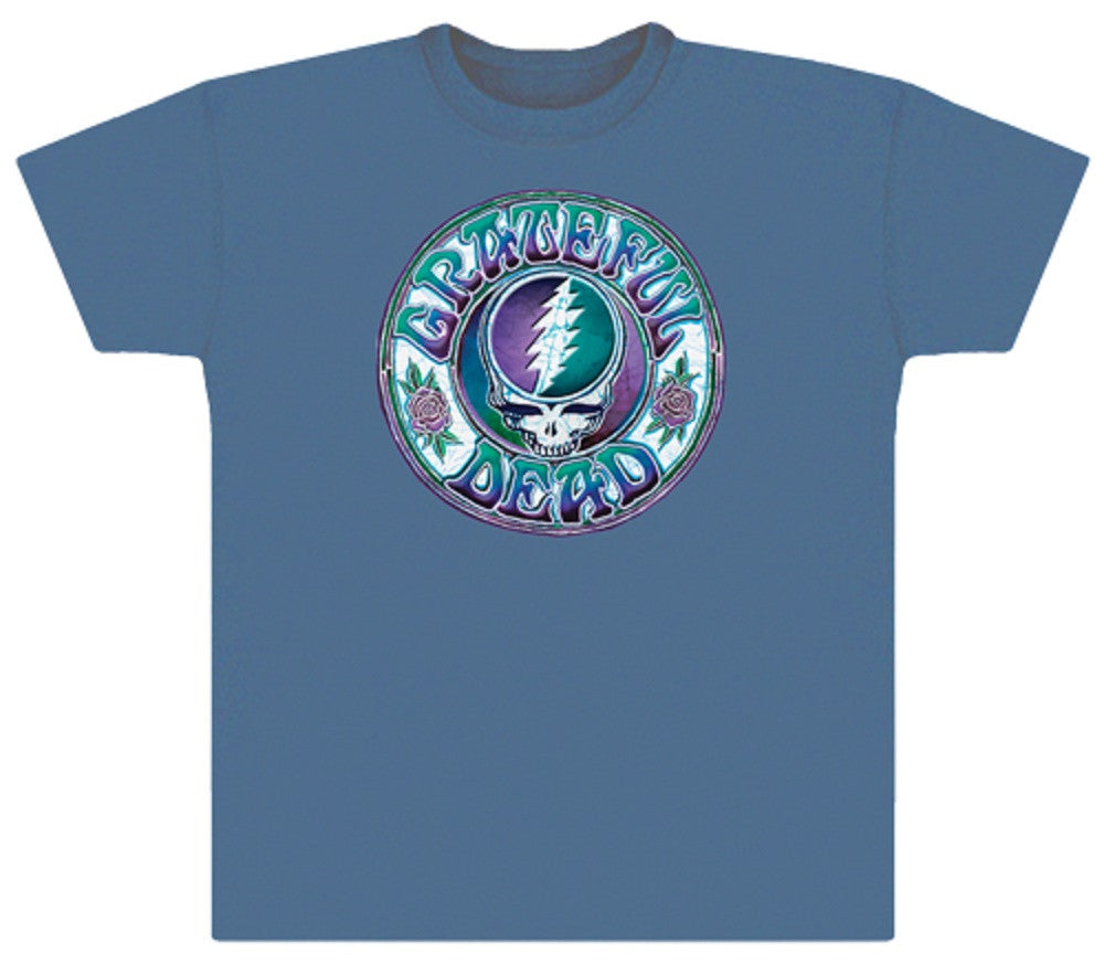 Grateful Dead - Batik SYF Steal Your Face T Shirt