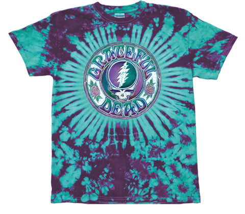 Grateful Dead - Batik SYF Steal Your Face Tie Dyed T Shirt