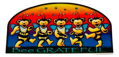 Grateful Dead Bee Grateful Outdoor Sticker