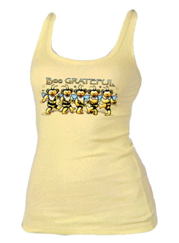 Bee Grateful Ladies Tank Top