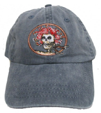 Grateful Dead Classic Bertha Skull and Roses Baseball Cap