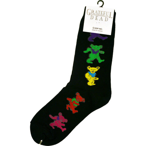 Grateful Dead Black Dancing Bear Socks
