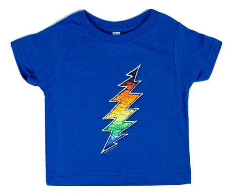 Lightning Bolt Toddler T Shirt - Blue