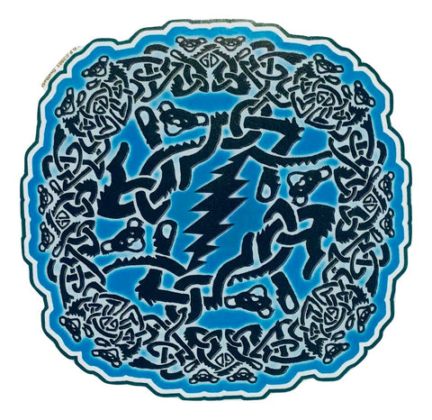 Grateful Dead Celtic Bears Window Sticker
