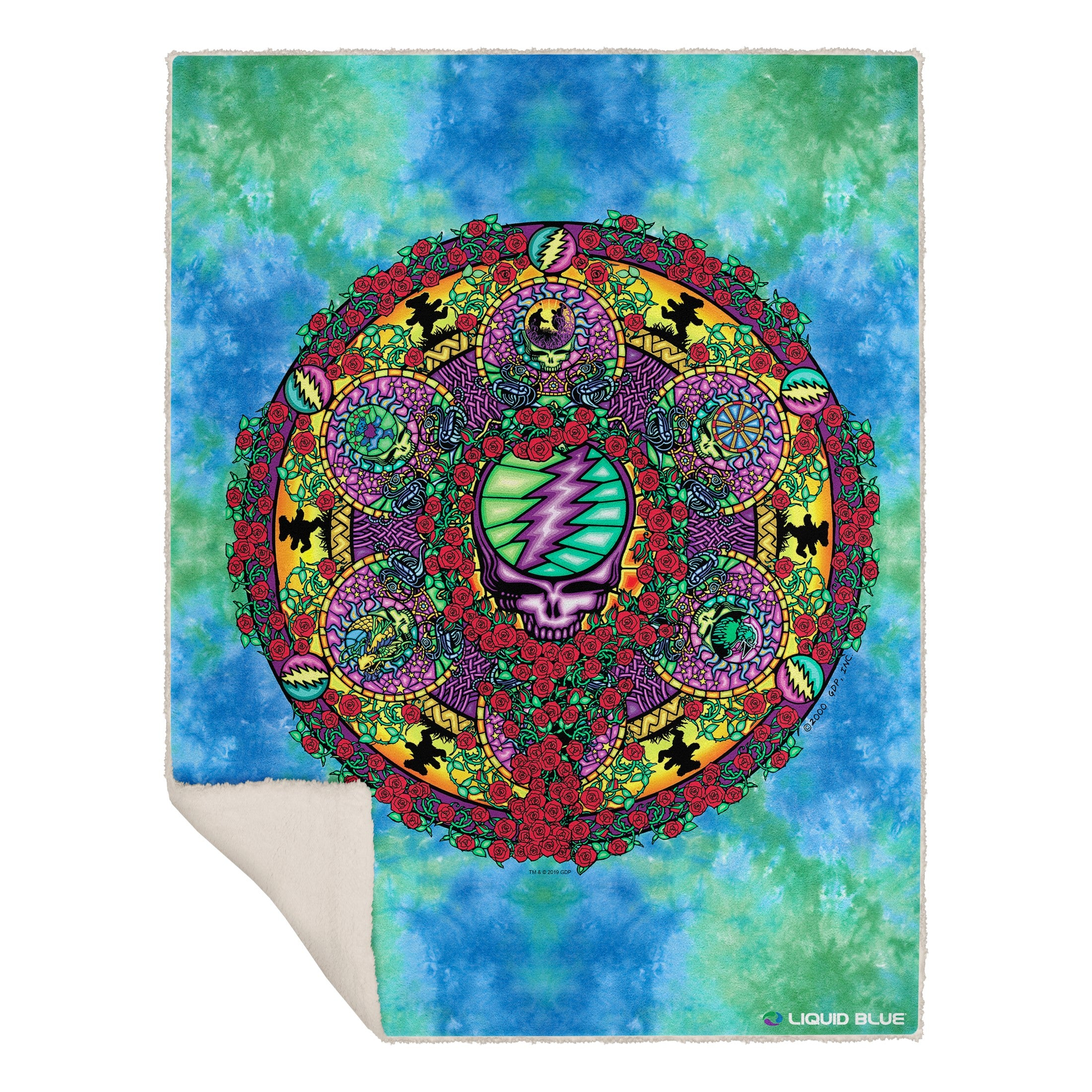 "Grateful Dead Celtic Mandala Fleece Throw Blanket 50""x 60"""