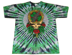 Grateful Dead Celtic Shamrock Short Sleeve Tie Dye T Shirt