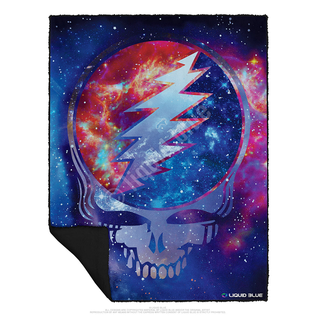"Grateful Dead Cosmic Stealie Fleece Throw Blanket 50""x 60"""