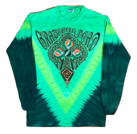 Grateful Dead Celtic Cross Long Sleeve Tie Dye T Shirt