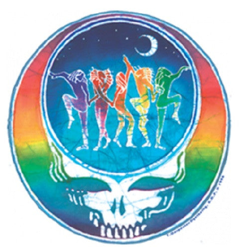 Grateful Dead Dancing Steal Your Face Outdoor Sticker