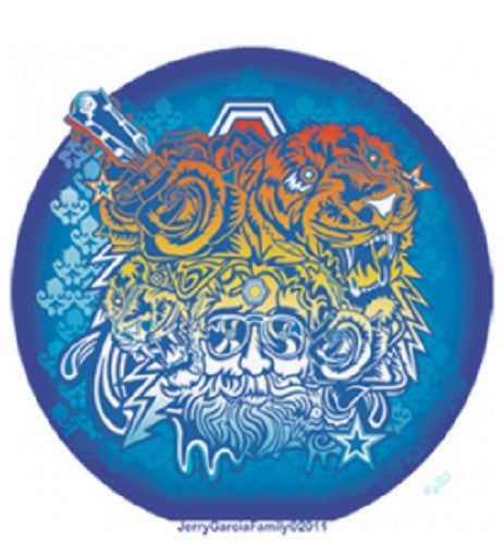 Grateful Dead Jerry Garcia Tiger Outdoor Sticker
