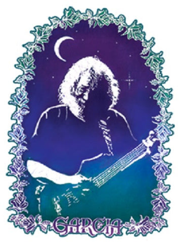 Grateful Dead Jerry Garcia Roses Outdoor Sticker