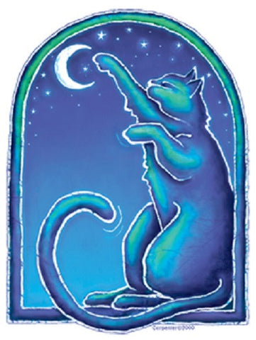 Moon Cat Outdoor Sticker