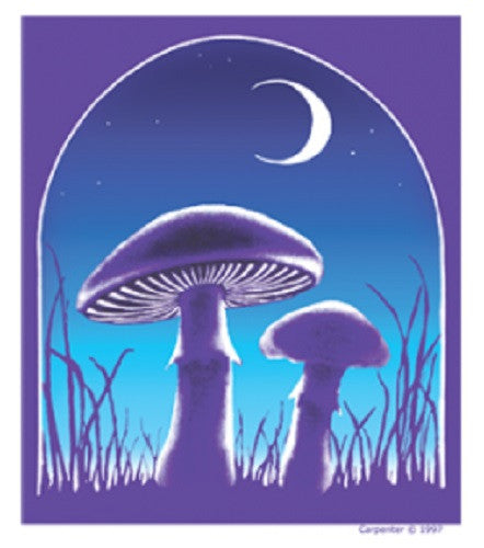 Midnight Mushroom Outdoor Sticker