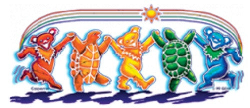 Grateful Dead Rainbow Critters Outdoor Sticker