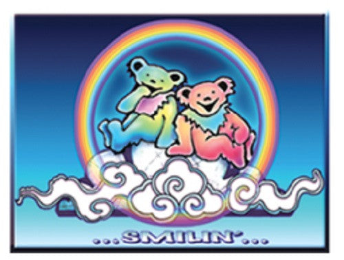 Grateful Dead Smilin' Bears On A Cloud Outdoor Sticker