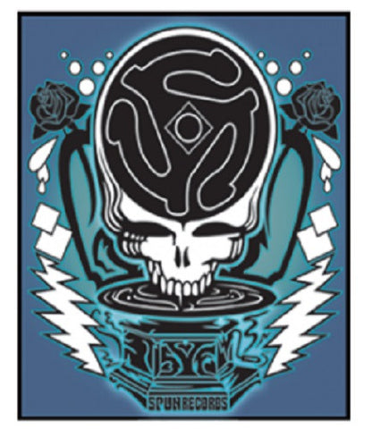 Grateful Dead Spun Steal Your Face Outdoor Sticker
