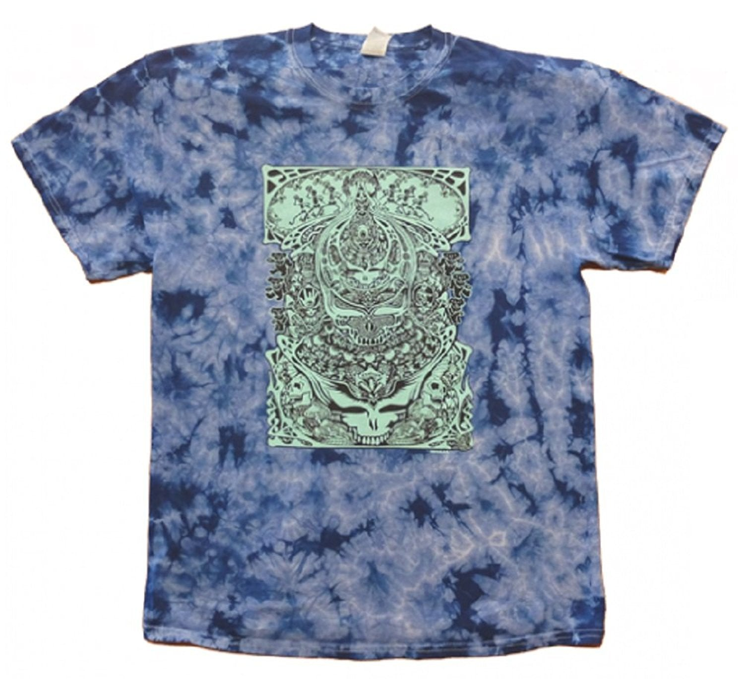 Grateful Dead - Aiko Aiko  Tie Dye T Shirt - Blue