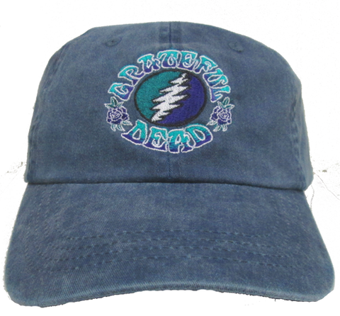 Grateful Dead Bolt on a Denim Baseball Cap