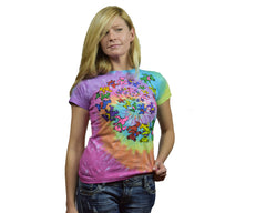 Juniors Size - Spiral Bears Grateful Dead Tie-Dye Long Length