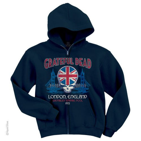 Grateful Dead Wembley Zipper Hoodie with Pouch