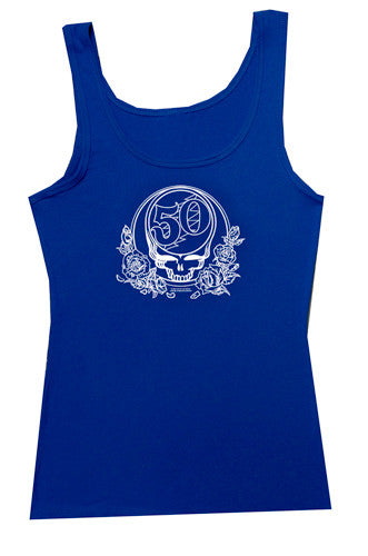 Grateful Dead Merchandise Blue Tank Top