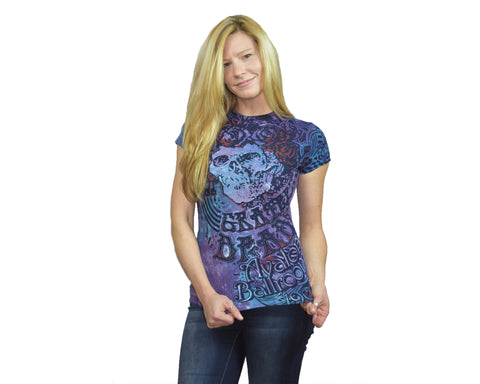 Juniors Size -Baby Blue Grateful Dead Tie-Dye Long Length