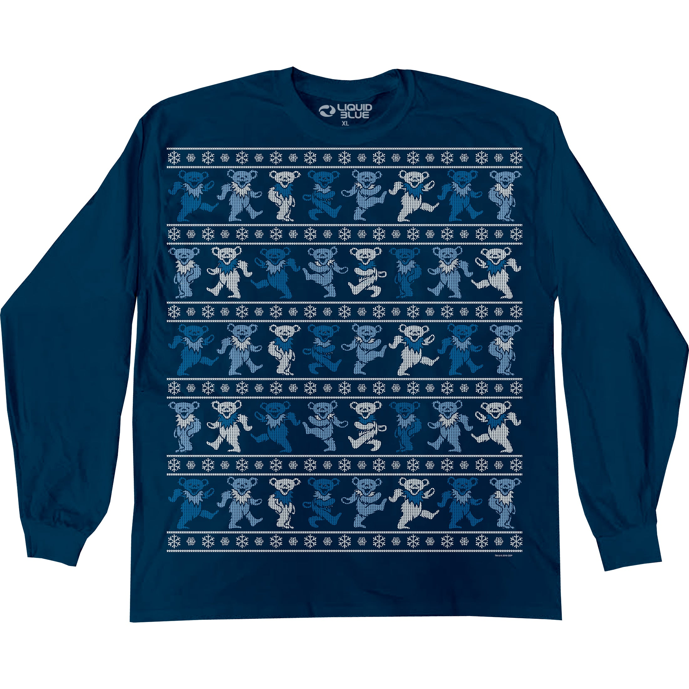 Grateful Dead Dancin Bears XMas Long Sleeve