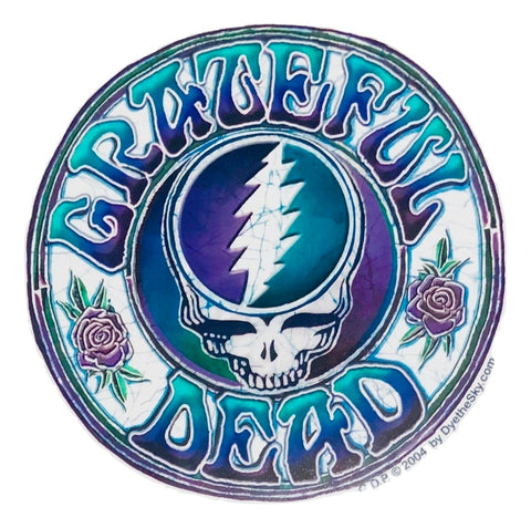 Grateful Dead Batik Style Steal Your Face Indoor/Outdoor Sticker