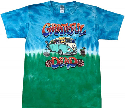 Grateful Dead Bus Short Sleeve Tie Dye T Shirt