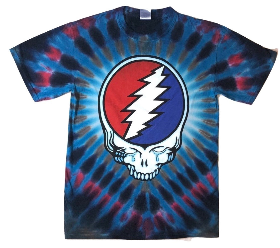 Grateful Dead Steal Your Tears Short Sleeve Tie Dye T Shirt