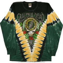 Grateful Dead - Long Sleeve GD Shamrock V Tie Dye