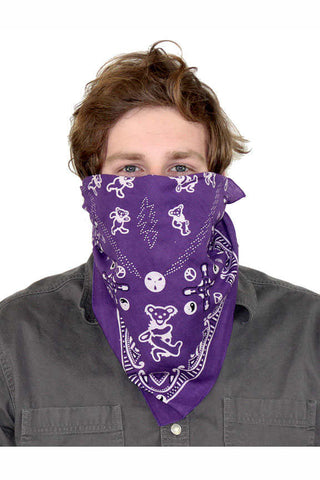 Good Ol' Grateful Dead Dancing Bears Purple Bandana
